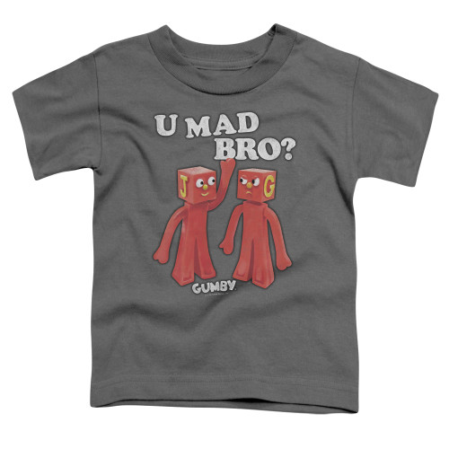 Image for Gumby Toddler T-Shirt - U Mad Bro?