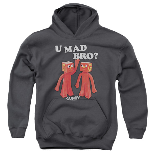 Image for Gumby Youth Hoodie - U Mad Bro?