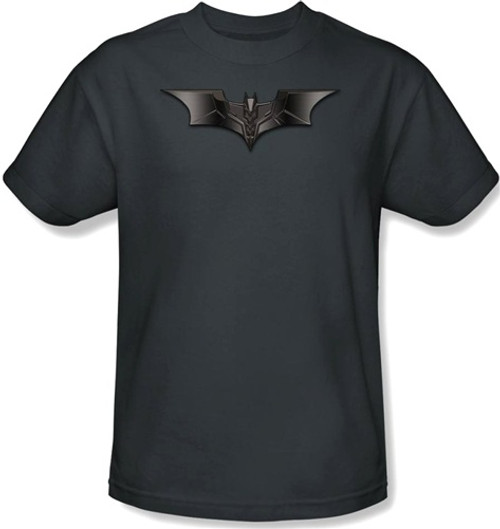 Image Closeup for Batman T-Shirt - Carbon Fiber Shield Logo