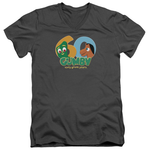 Image for Gumby T-Shirt - V Neck - 60th Anniversary