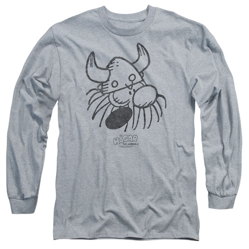 Image for Hagar The Horrible Long Sleeve Shirt - Hagar Head