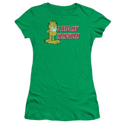 Image for Garfield Girls T-Shirt - I Ate My Homework