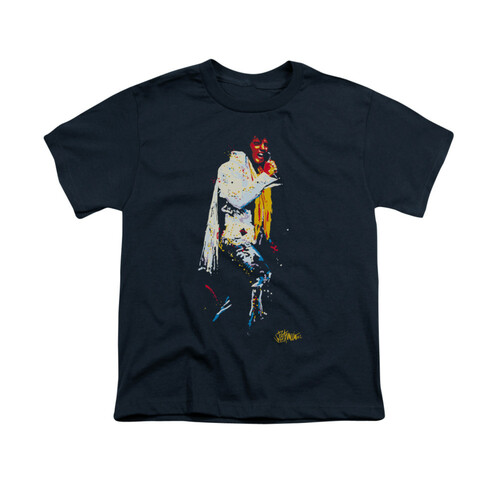 Image for Elvis Youth T-Shirt - Yellow Scarf