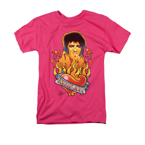 Image for Elvis T-Shirt - Burning Love