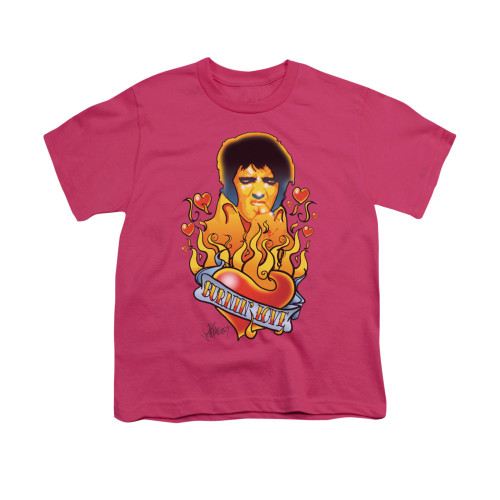 Image for Elvis Youth T-Shirt - Burning Love