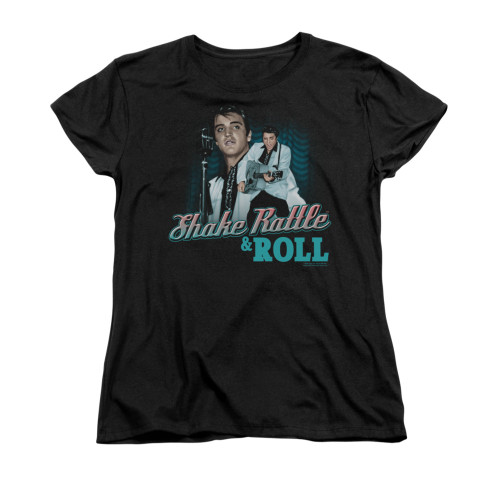 Image for Elvis Woman's T-Shirt - Shake Rattle & Roll