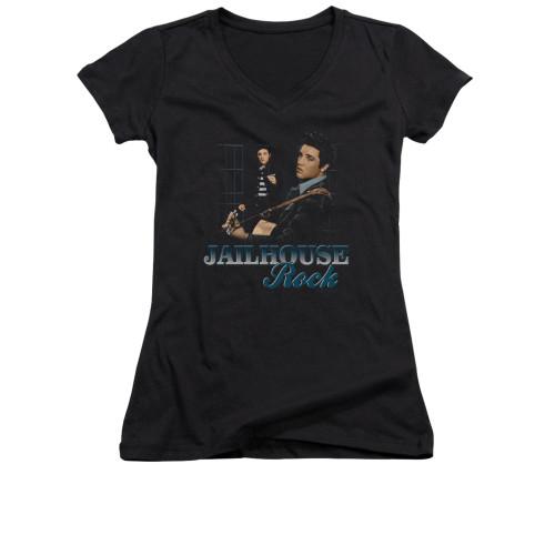 Image for Elvis Girls V Neck T-Shirt - Jailhouse Rock n Roll