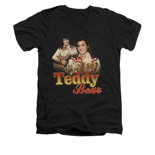 Image for Elvis V-Neck T-Shirt Teddy Bears