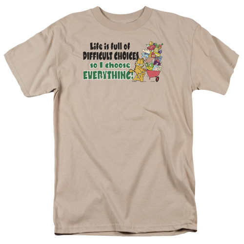 Image for Garfield T-Shirt - Difficult Choices
