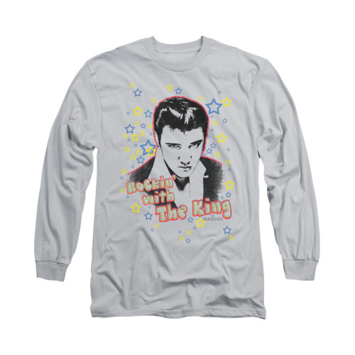 Image for Elvis Long Sleeve T-Shirt - Rockin With the King