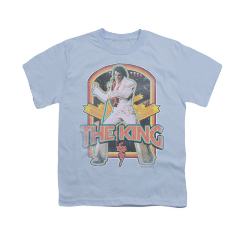 Image for Elvis Youth T-Shirt - Distressed King