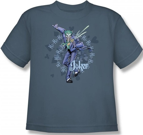 Image for Batman Youth T-Shirt - Joker Acid Spiral