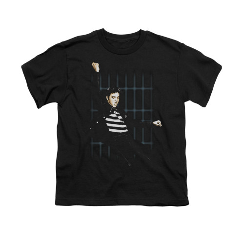 Image for Elvis Youth T-Shirt - Blue Bars