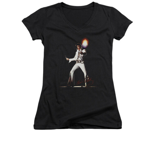 Image for Elvis Girls V Neck T-Shirt - glorious