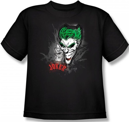 Image for Joker Youth T-Shirt - Sprays the City