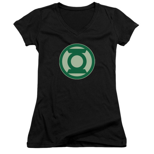 Image for Green Lantern Girls V Neck - Green Symbol