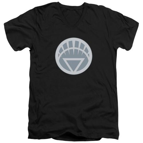 Image for Green Lantern V Neck T-Shirt - White Symbol