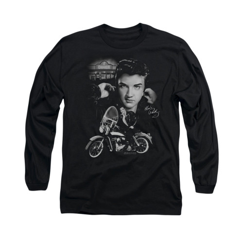 Image for Elvis Long Sleeve T-Shirt - The King Rides Again