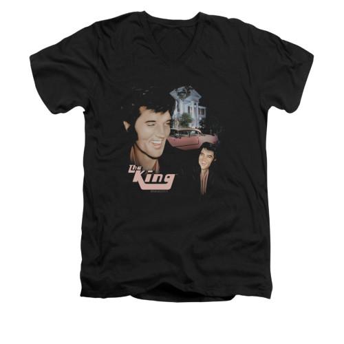 Image for Elvis V-Neck T-Shirt Home Sweet Home