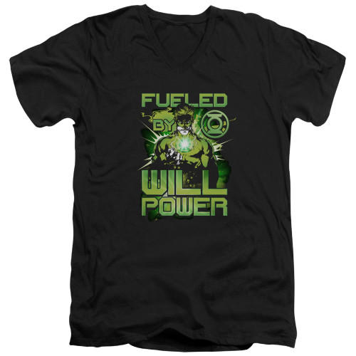 Image for Green Lantern V Neck T-Shirt - Fueled