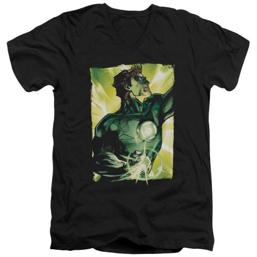 Image for Green Lantern V Neck T-Shirt - Up Up