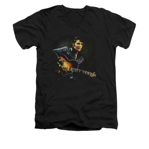 Image for Elvis V-Neck T-Shirt 1968 Guitar