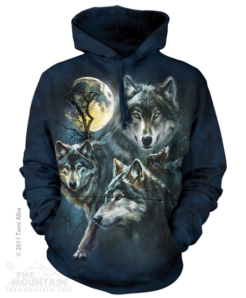 Image for The Mountain Hoodie - Moon Wolves Collage