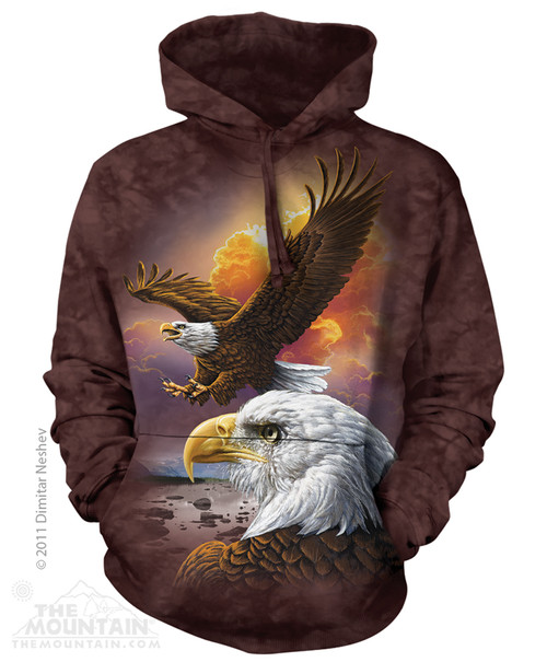 Image for The Mountain Hoodie - Eagle & Clouds