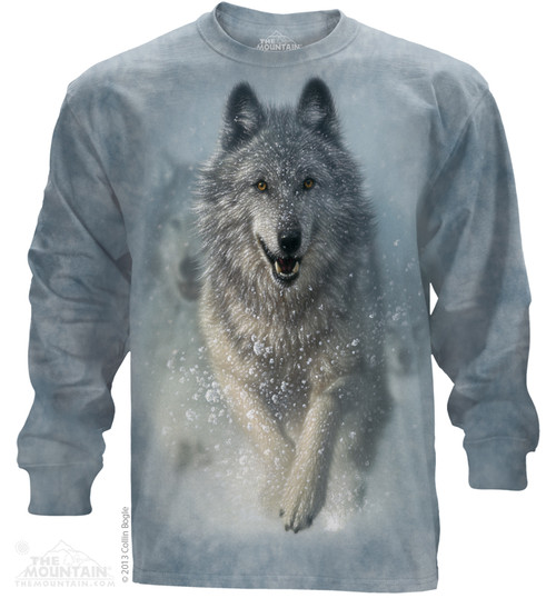 Image for The Mountain Long Sleeve T-Shirt - Snow Plow