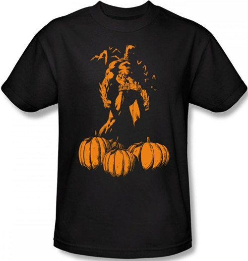 Image for Batman T-Shirt - Halloween A Bat Among Pumpkins