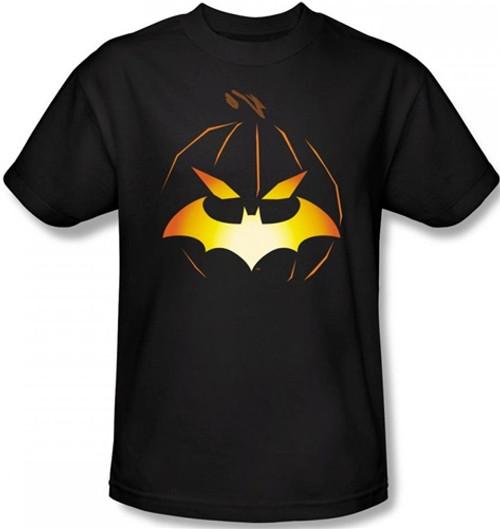 Image Closeup for Batman T-Shirt - Halloween Jack O' Bat Logo
