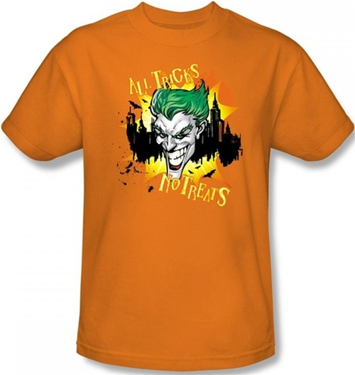 Image for Joker T-Shirt - Halloween All Tricks, No Treats