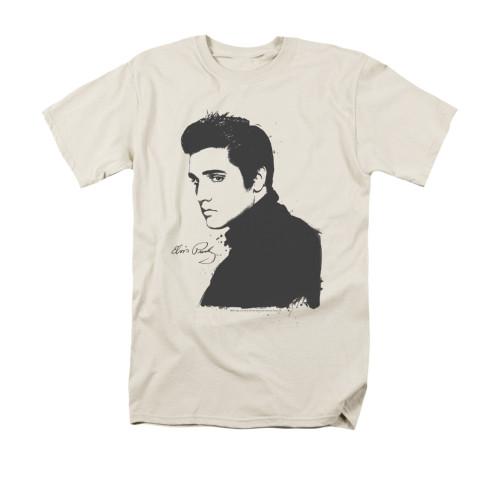 Image for Elvis T-Shirt - Cream Paint