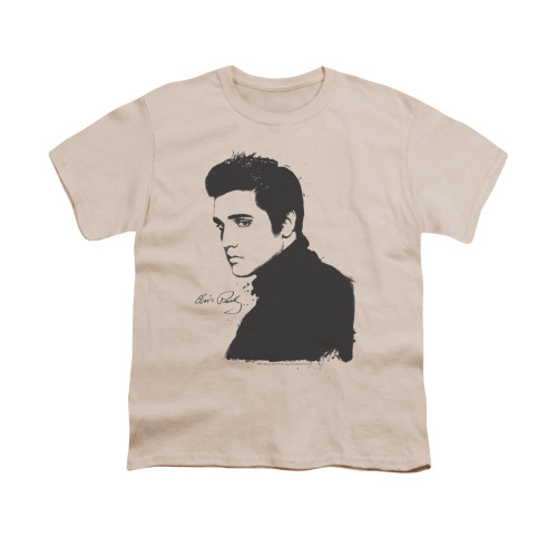 Image for Elvis Youth T-Shirt - Black Paint