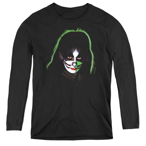 Image for Kiss Woman's T-Shirt - Peter Criss Cover