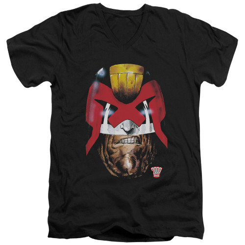 Image for Judge Dredd V Neck T-Shirt - Dredds Head