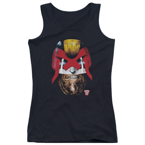 Image for Judge Dredd Girls Tank Top - Dredds Head