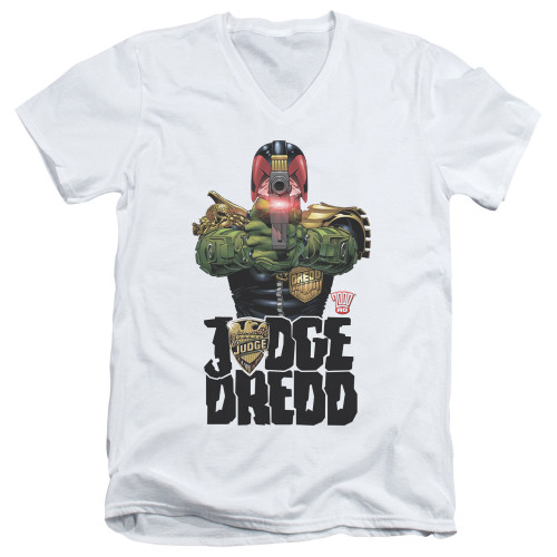 Image for Judge Dredd V Neck T-Shirt - In My Sights