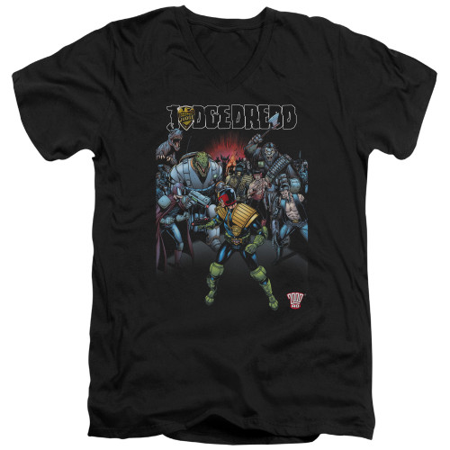 Image for Judge Dredd V Neck T-Shirt - Behind You