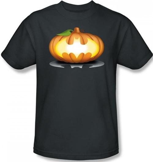 Image Closeup for Batman T-Shirt - Halloween Bat Pumpkin Logo