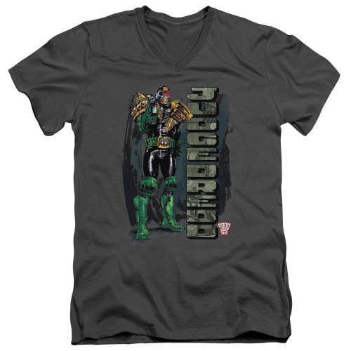Image for Judge Dredd V Neck T-Shirt - Blam