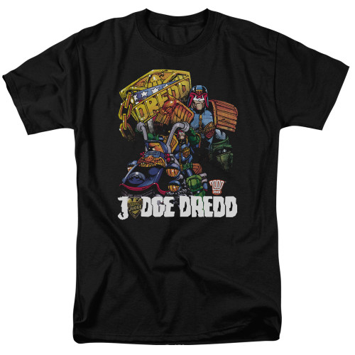 Image for Judge Dredd Bike and Badge T-Shirt