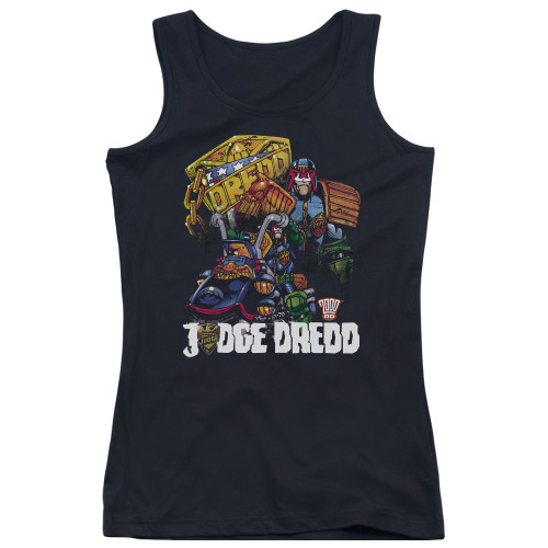 Image for Judge Dredd Girls Tank Top - Bike and Badge