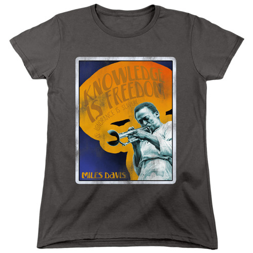Image for Miles Davis Womans T-Shirt - Knowledge and Ignorance