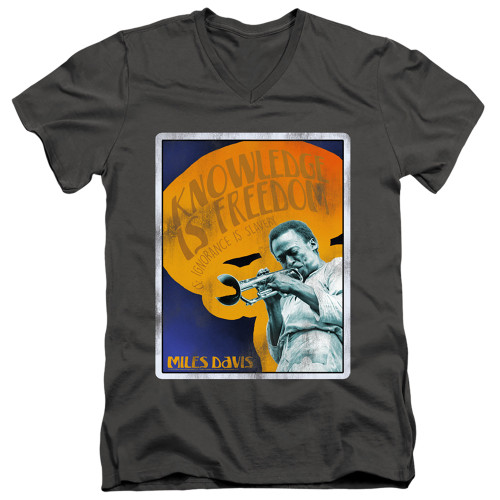 Image for Miles Davis V Neck T-Shirt - Knowledge and Ignorance