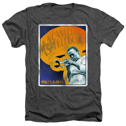 Image for Miles Davis Heather T-Shirt - Knowledge and Ignorance