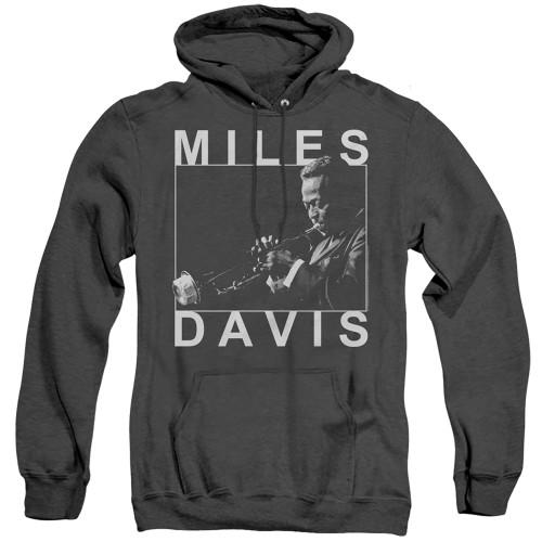 Image for Miles Davis Heather Hoodie - Monochrome