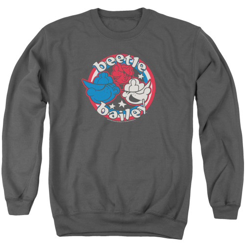 Image for Beetle Bailey Crewneck - Red White and Bailey