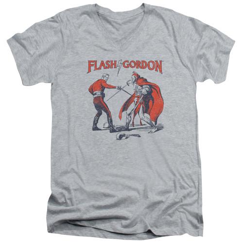 Image for Flash Gordon V Neck T-Shirt - Duel