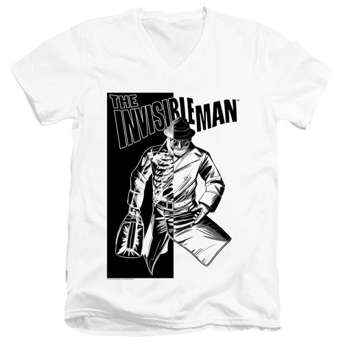 Image for The Invisible Man V Neck T-Shirt - Who I Am
